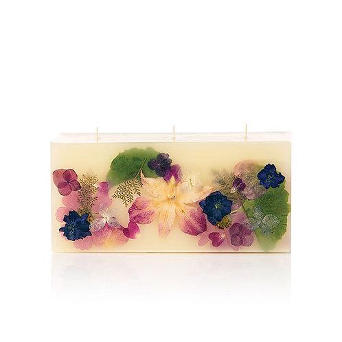 Rosy Rings Botanical Brick Candle - Iris Moon