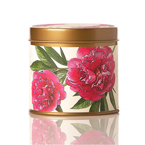 Rosy Rings Soy Tin Candle Peony & Pomelo  50hr