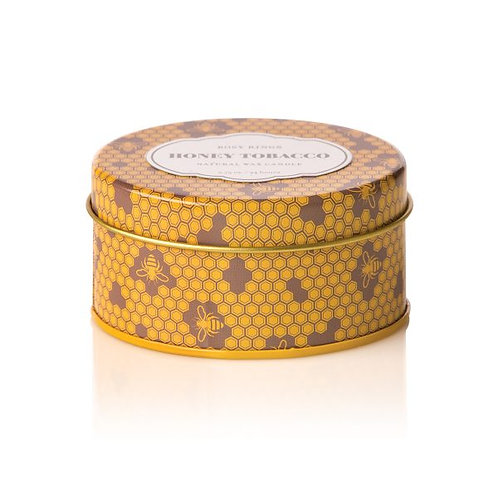 Rosy Rings Travel Tin Candle Honey Tobacco