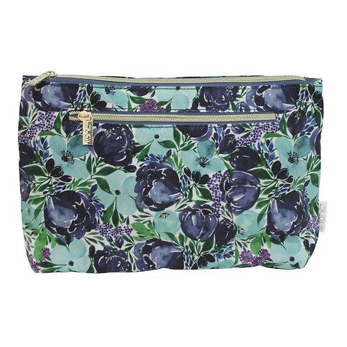 Tonic Large Cosmetic Bag Flourish Blue