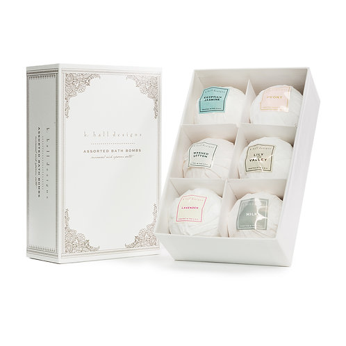 k.hall designs Assorted Bath Bomb Gift Box