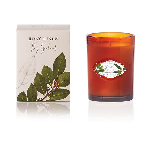 Rosy Rings Signature Glass Candle 75hr - Bay Garland