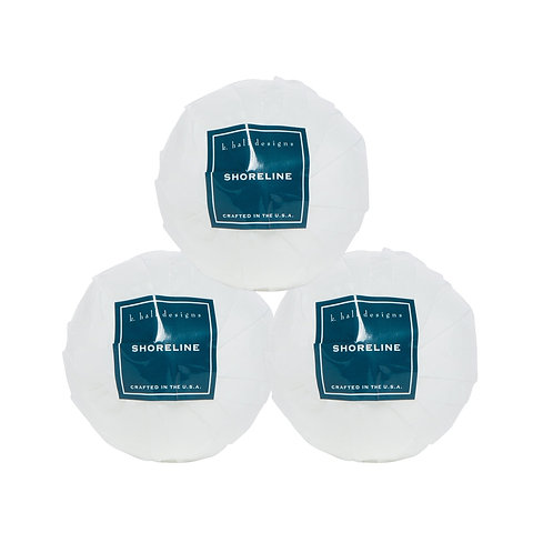 k.hall designs Set of 3 Bathbombs Shoreline