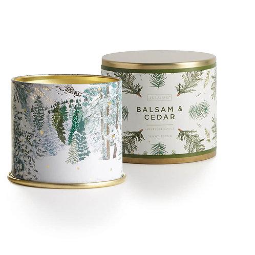 Illume Noble Holiday Large Tin Candle - Balsam & Cedar