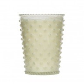 Simpatico - Hobnail Glass Candle White Flower 42