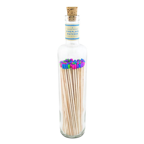 Skeem Fireplace Party Matches - Blue