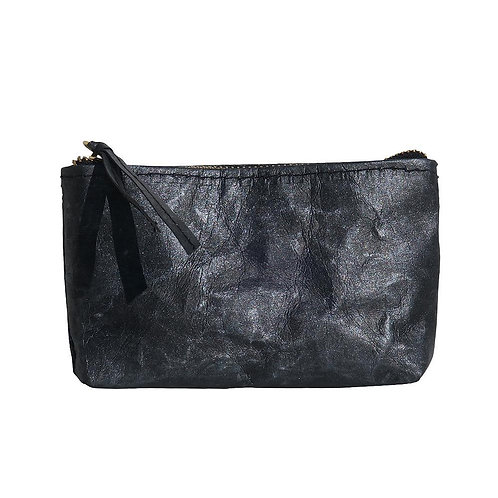 HUXTER PAPER COSMETIC CLUTCH - BLACK