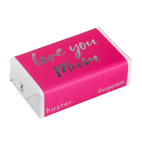 HUXTER BAR SOAP - LOVE YOU MUM PINK WITH SILVER FOIL