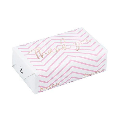 HUXTER BAR SOAP - Pink Chevron Thank You in Gold