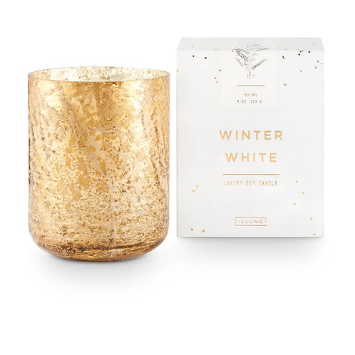 Illume Luxe Sanded Mercury Glass 225g Candle Winter White