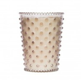 Simpatico - Hobnail Glass Candle Honeysuckle 92