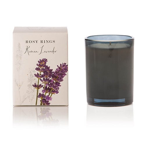 Rosy Rings Botanical Glass Candle 85hr - Roman Lavender