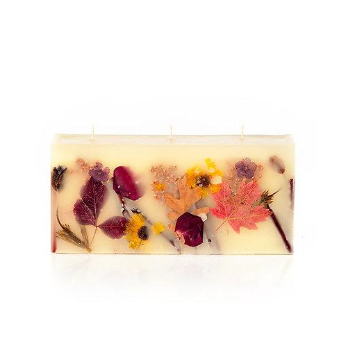 Rosy Rings Botanical Brick Candle - Pumpkin Cardamom