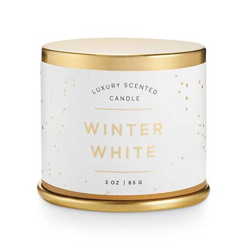 Illume Demi Vanity Tin Candle Winter White