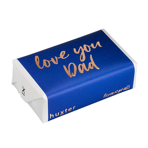 HUXTER BAR SOAP - Love You Dad Blue & Gold