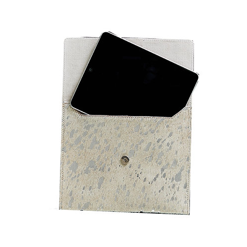 Mer-Sea Silver Splash Cowhide ipad / Notebook Case