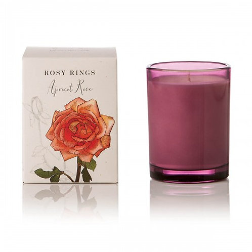 Rosy Rings Botanical Glass Candle - 85hr Apricot Rose