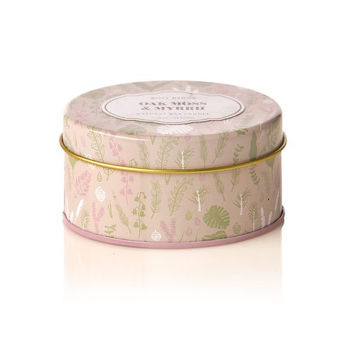 Rosy Rings Travel Tin Candle Oakmoss & Myrhh