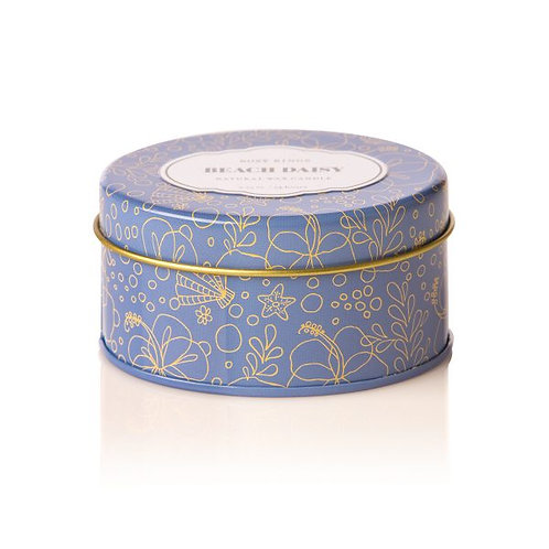Rosy Rings Travel Tin Candle Beach Daisy