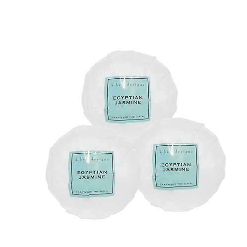 k.hall designs Set of 3 Bath Bombs Egyptian Jasmine