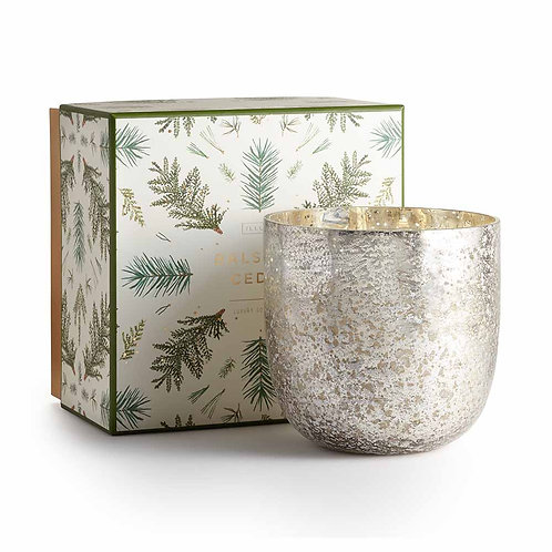 Illume Luxe Sanded Mercury Glass 120 Hour Candle Balsam & Cedar
