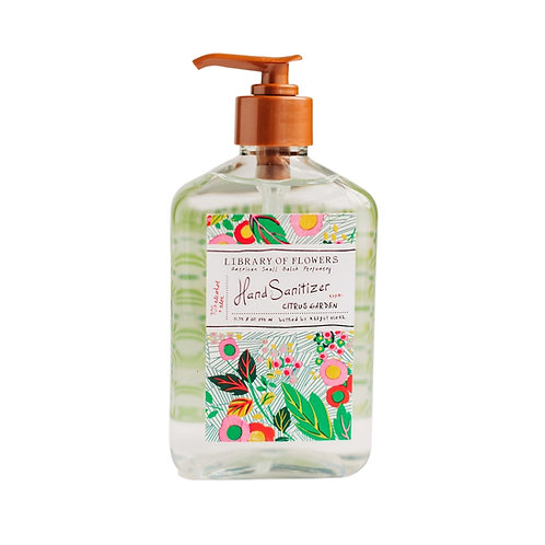 Library of Flowers Citrus Garden Hand Sanitizer