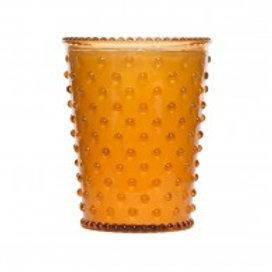 Simpatico - Hobnail Glass Candle Pumpkin #28