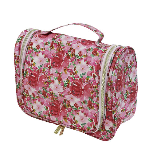 Tonic Essential Hanging Toiletry Bag Flouish Pink