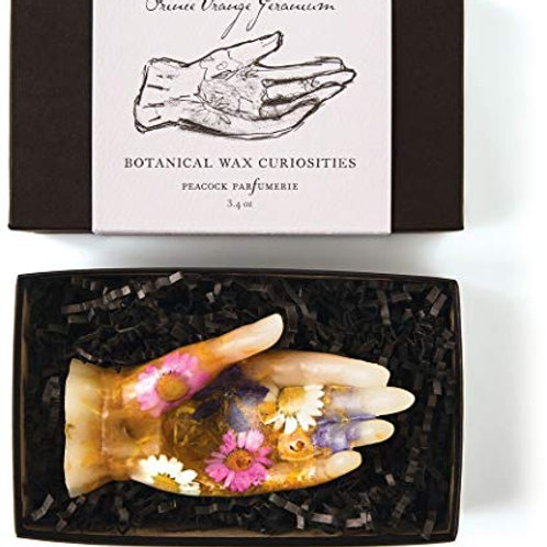 Rosy Rings Botanist Wax Curiosites - Prince Orange Geranium Hand