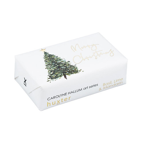 HUXTER BAR SOAP  Tree Merry Christmas Gold Foil
