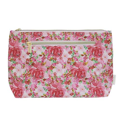 Tonic Large Cosmetic Bag Flourish Pink