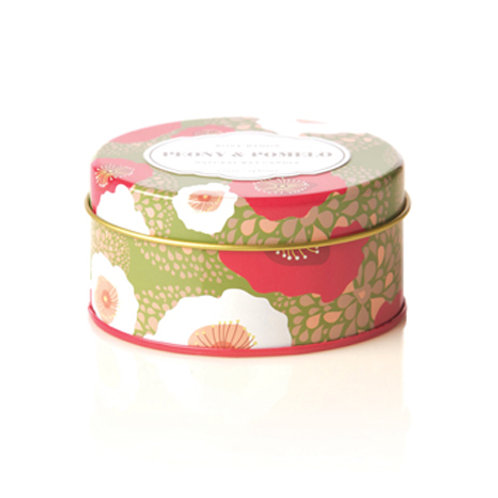 Rosy Rings Travel Tin Candle Peony & Pomelo
