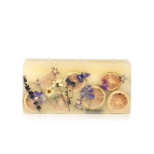 Rosy Rings Botanical Brick Candle -Roman Lavender