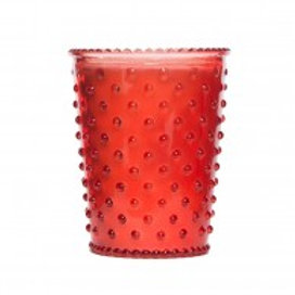 Simpatico - Hobnail Glass Candle Watermelon #04