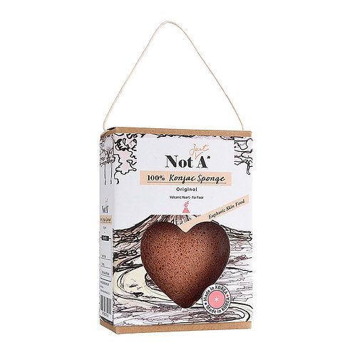 Not Just A Sponge - Volcanic Heart Konjac Face Sponge