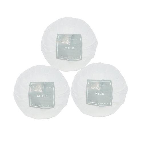 K.Hall Designs Set of 3 Bath Bombs Milk