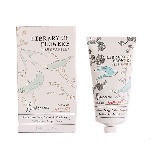 Library Of Flowers True Vanilla Handcreme