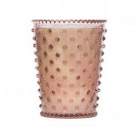 Simpatico - Hobnail Glass Candle Coral 45