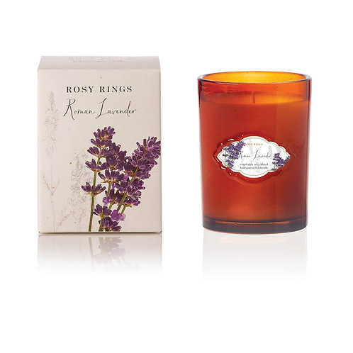 Rosy Rings Botanical Signature Glass Candle 75hr - Roman Lavender