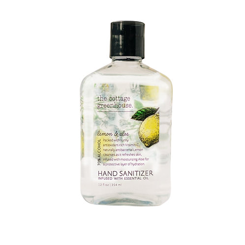 The Cottage Greenhouse Lemon & Aloe Hand Sanitzer