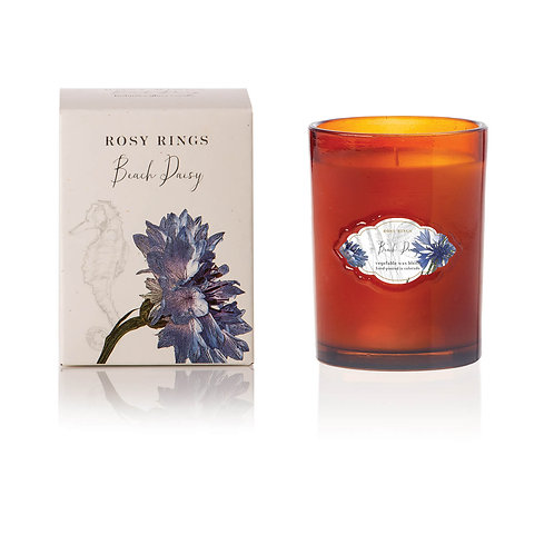Rosy Rings Signature Glass Candle 75hr - Beach Daisy