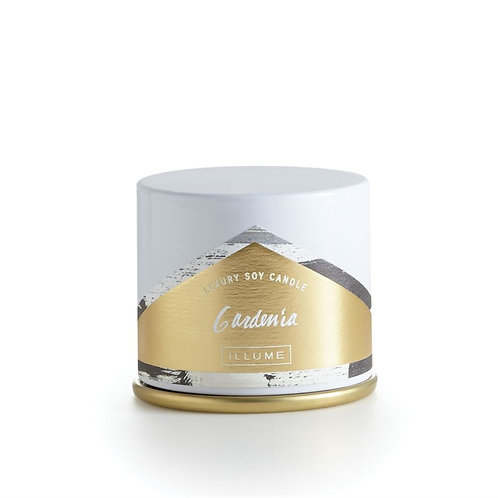 Illume Demi Vanity Tin Gardenia Candle