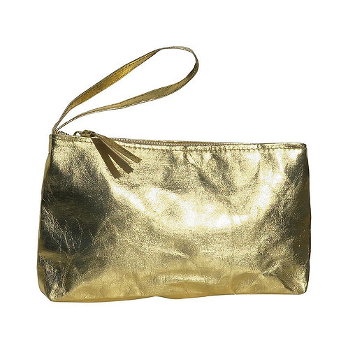 HUXTER SMALL PAPER CLUTCH - GOLD