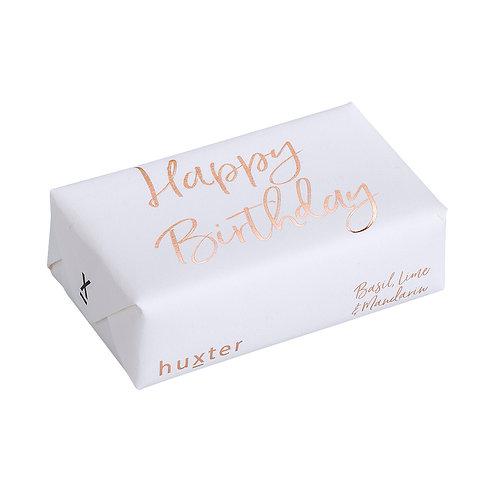 HUXTER BAR SOAP - Happy Birthday White & Gold
