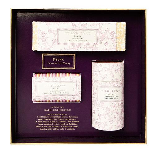 Lollia Relax Signature Bath Collection