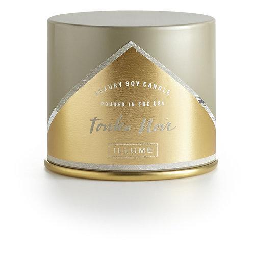Illume Vanity Tin Tonka Noir Candle