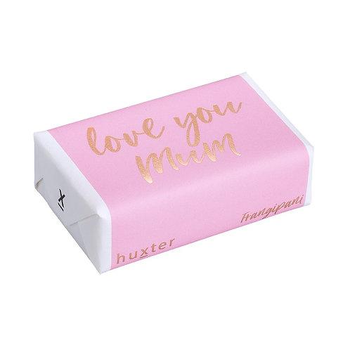 HUXTER BAR SOAP-Love you Mum Pink & Gold