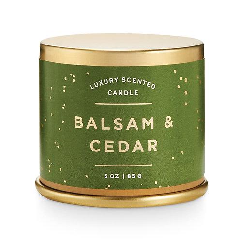 Illume Demi Vanity Tin Candle Balsam & Cedar