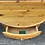 Thumbnail: Ducal Pine Half Moon Demi Hall Table /  Console Side Table With Drawer