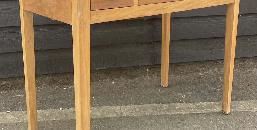 Sweet Edwardian Satinwood & Pine Console Side Table With Drawers
